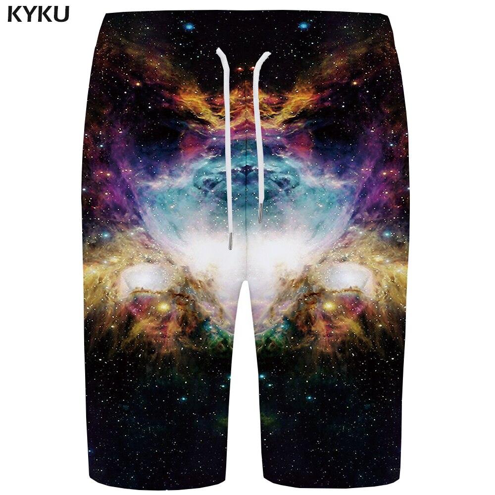 KYKU Galaxy   Board     Shorts   Men Colorful Boardshorts Quick Silver Space 3d Printed   Shorts   Casual Hip Hop Mens   Shorts   New Summer