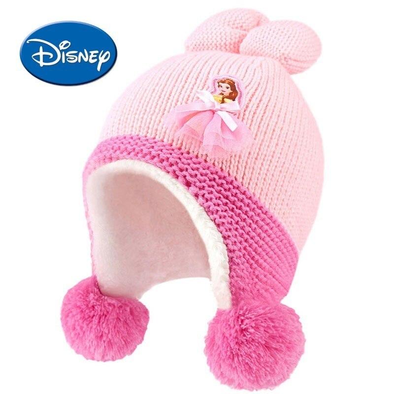 Детские зимние шапки disney для девочек и мальчиков; двухслойная теплая шапка; милая детская шапка; теплые вязаные шапки с ушками; шапочки