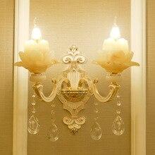 YOOK 30*45 см прозрачный нефрит одиночный свет настенный светильник Гостиная двойной свет настенный светильник спальня прикроватная вилла настенный светильник 220 В 14E