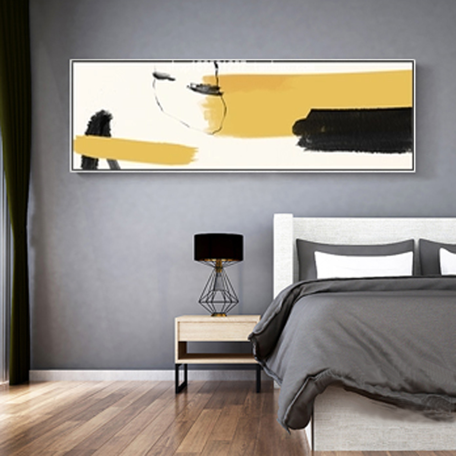 Abstract Landscape Watercolor Ink Horizontal Canvas Paintings Nordic Wall Art Pictures Poster Print for Living Room Home Decor