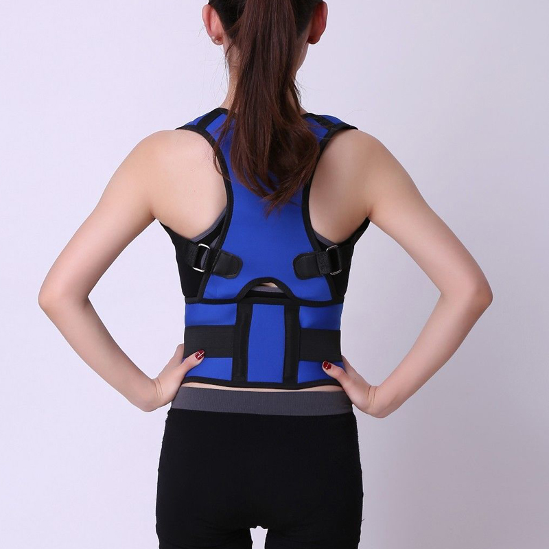 Neoprene Spine Support Belt for Men Women Back Corset Brace Straightener Magnetic Posture Corrector Shoulder Back Belt