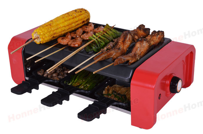 Free shipping Indoor electric bbq raclette party grill non-stick pans granite stone party grill цена