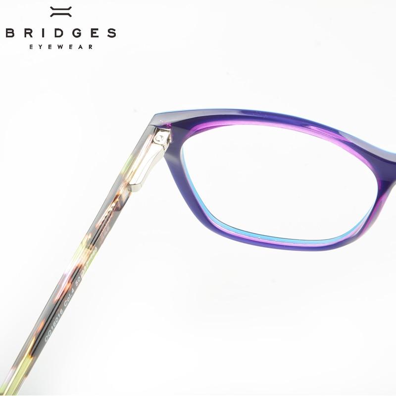 BRIDGES EYEWEAR Women Stylish Brand Designer Acetate Optical Glasses - Kläder tillbehör - Foto 4