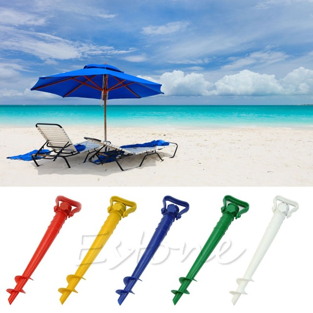 Image of: Beach Umbrella For Shome Pc Sun Umbrella Holder Beach Garden Patio Parasol Ground Earth Anchor Spike Home