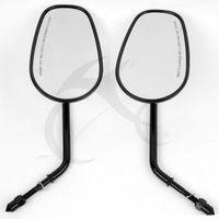 Left Right Rear View Mirrors For Harley Sportster XL 1200 883 VRSCAW V ROD Black