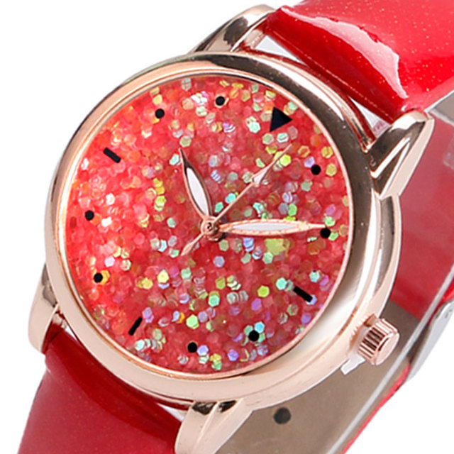 Glitter Dial Wrist Watch for Women