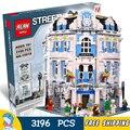 3196 unids 15018 creador de expertos sol hotel de construcción modular serie kit modelo bloques juguetes de oficina estructura compatible con lego