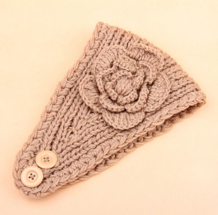 Wholesale Crochet Headband Women\'s Knit Hair Band Flower Headband ...