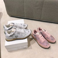 2018 shaduo Lace Up casual camouflage color shoes diamond tie in women shoes fashion breathable women sneaker shoes