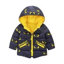 2016 Nouvelle Vente Régulière Coton Drap 100% Hiver Veste Enfants Veste pour L'hiver Vêtements De Noël À Capuche Pour Enfants Manteaux Chauds