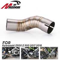 Motorcycle Exhaust Middle Pipe Link Pipe Slip On Section Muffler for motorcycle For Kawasaki Z900 2017 2018 2019