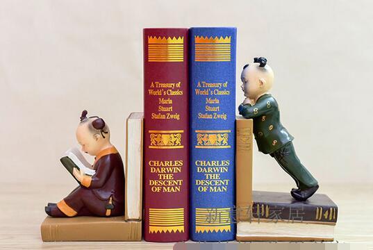 Américain pays résine Livre fichier serre-livres livre par articles d'ameublement creative bande dessinée chauve serre-livres résine artisanat cadeau