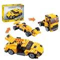 Decool 3113 Cool Cars DIY Camión de Carrera de Ladrillo Bloque 3 En 1 Toy Boy Juego Juguetes para niños Modelo de Coche de Regalo Lepin 4939