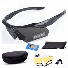 Professional Polarized Tactical Glasses UV Protective Hiking Hunting Eyewear Military Goggles Airsoft Paintball 3 Lens