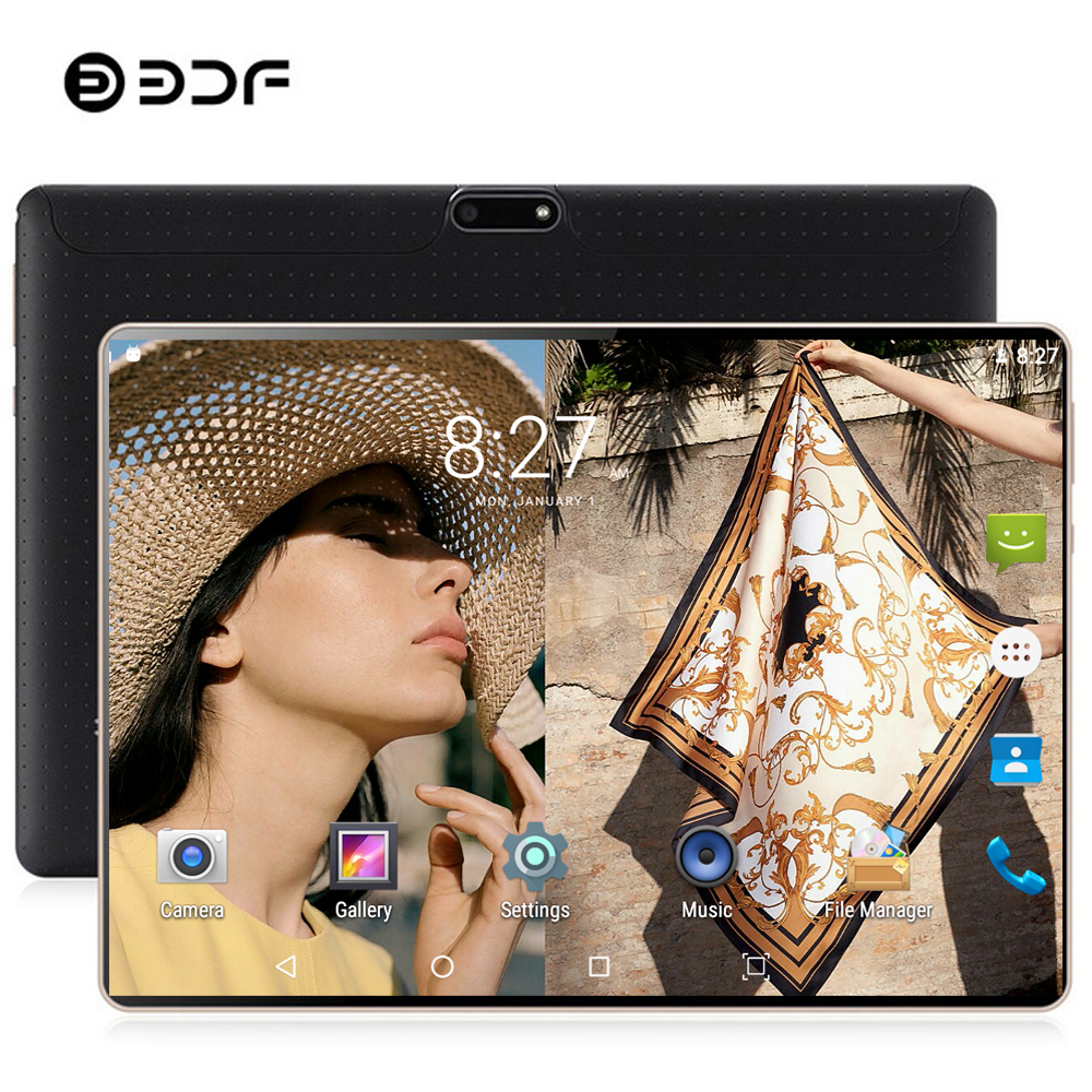 BDF 8GB RAM 128GB ROM 10 Inch Tablet Pc Google Play 4G LTE Android 9.0 Ten Core WiFi Tablets 10.1 IPS 1280*800 Dual SIM Phone