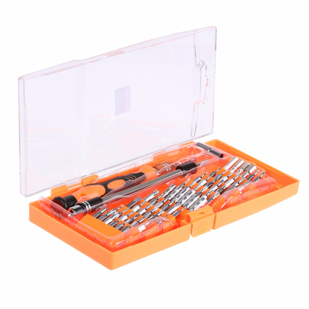 JAKEMY 58 in1 Telecom Maintenance Set Multifunction Precision Screwdriver Set Disassembl ...