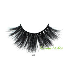 HEXUAN 100% Mink Lashes 25mm 5D Extension Makeup Natural False Eyelashes Volumn Lash