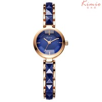 Reloj Mujer 2017 New Kimio Brand Diamond Clock Elegant Dress Ceramic Women Girls Watch Quartz Bracelet