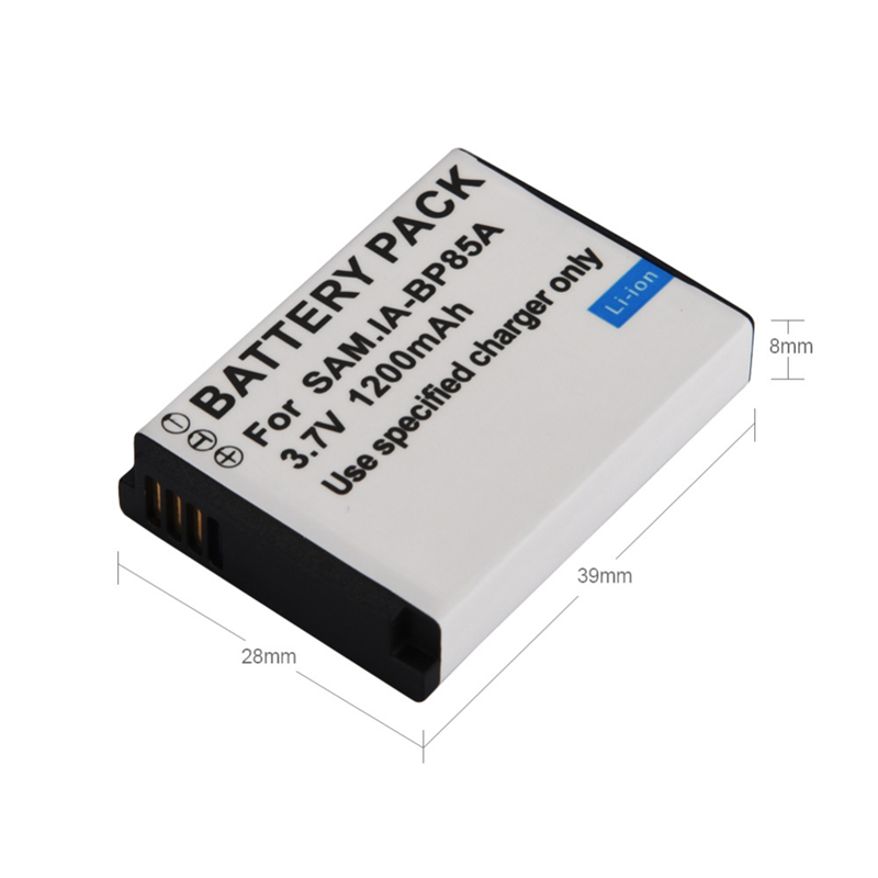 3.7V 1200mAh IABP85A BP85A Rechargeable Replacement Digital Camera Battery For Samsung ST200 PL210 WB210 SH100 Backup Batteria3.7V 1200mAh IABP85A BP85A Rechargeable Replacement Digital Camera Battery For Samsung ST200 PL210 WB210 SH100 Backup Batteria
