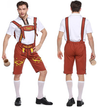 f30d7095e99 Geossocy Plus Size Oktoberfest Costume men Traditional German Bavarian Beer  Male