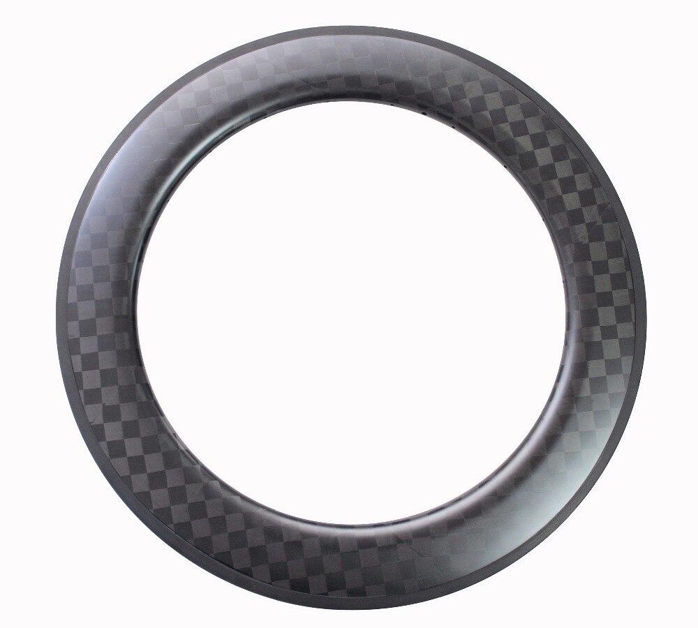 2018 MILAGRE Clincher Tubular de Carbono Barato Bicicleta de Estrada de Bicicleta Jantes de superfície de frenagem 27mm 18 k Fosco