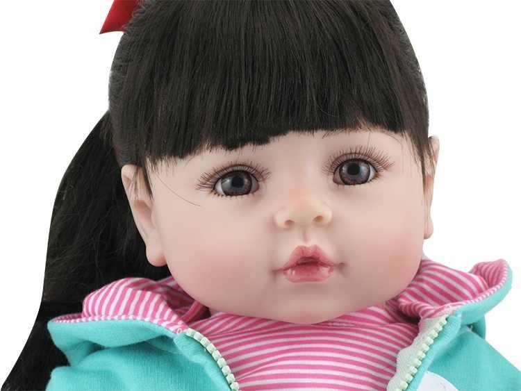 NPK Bebes Кукла реборн 47 см силиконовая кукла девочка реборн Детская кукла игрушка Реалистичная новорожденная Принцесса Виктория Bonecas Menina для детей