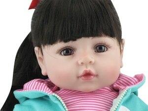 Image 5 - NPK Bebes Reborn doll 47CM silicone doll Girl Reborn Baby Doll Toy Lifelike Newborn Princess victoria Bonecas Menina for kids