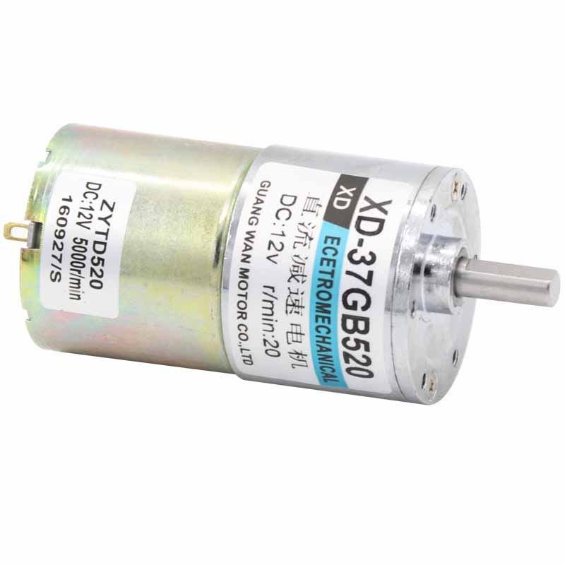 37 dc gear motor 10W 12 V24V mini DC geared motor low speed high torque can adjustable speed / reversible electric tools 37GB520 molisu free shipping w5 robot vacuum cleaner window cleaner auto clean anti falling smart window glass cleanercontrol clean