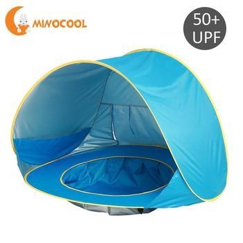Детская водонепроницаемая палатка с тентом, детский пляжный тент с УФ-защитой, солнцезащитный тент с бассейнами, детский уличный тент для кемпинга, синий