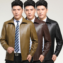 Autumn 2016 New Men's  Leather Jacket Men Leather Suit Leisure Sheep Leather Jacket Brand Men Leather Jacket Black/Brown