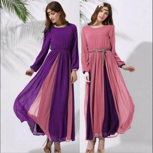 Mechcitiz 2017 Muslim Dresses Fashion Ic Abaya Lady Dress National Turkish Dubai Kaftan Clothing