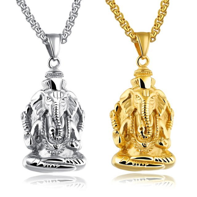 The new indian religious accessories titanium steel men and the new indian religious accessories titanium steel men and womens pendants are like the head of aloadofball Choice Image