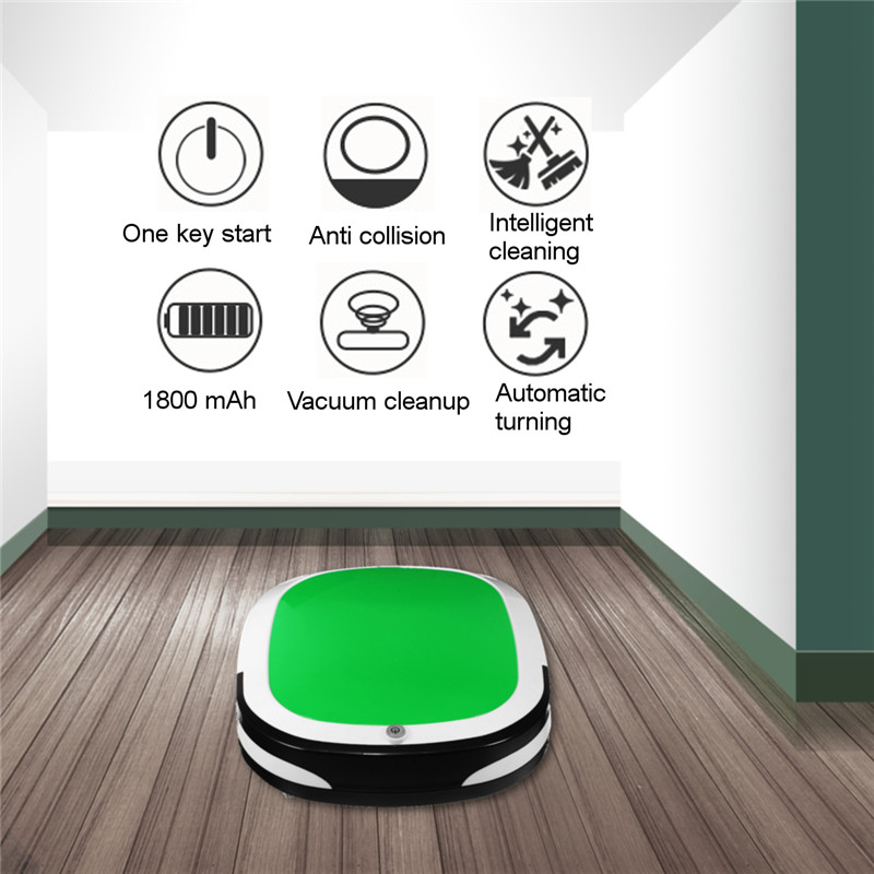 Electric Wireless Vacuum Sweep Robot Mini Smart Sweeping Robot Automatic Suction Machine Cleaner Dust Machine For Home Household vbot sweeping robot cleaner home fully automatic vacuum cleaner special offer clean robot mopping machine