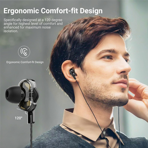 Image 3 - Langsdom D4C Wired Earphone Headphones with Microphone Dual Driver Phone Earphones Type C Ear Phones auriculares fone de ouvido