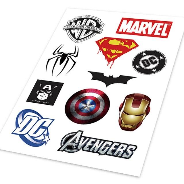A4 Superman Iron Man Spider Batman Avengers Captain America Doodle