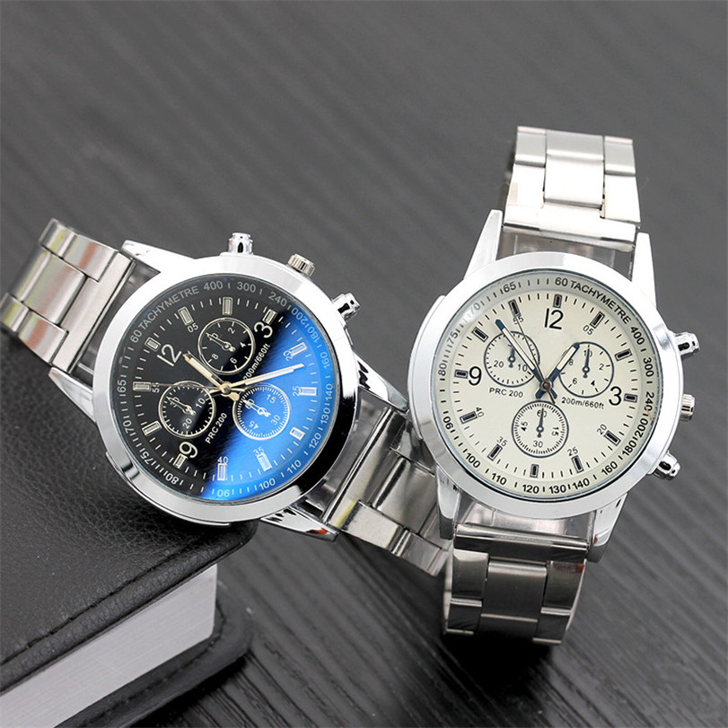 Women Men Fashion handsome Stainless Steel Sport Quartz Hour Wrist Analog Watch dropshipping free shipping hot