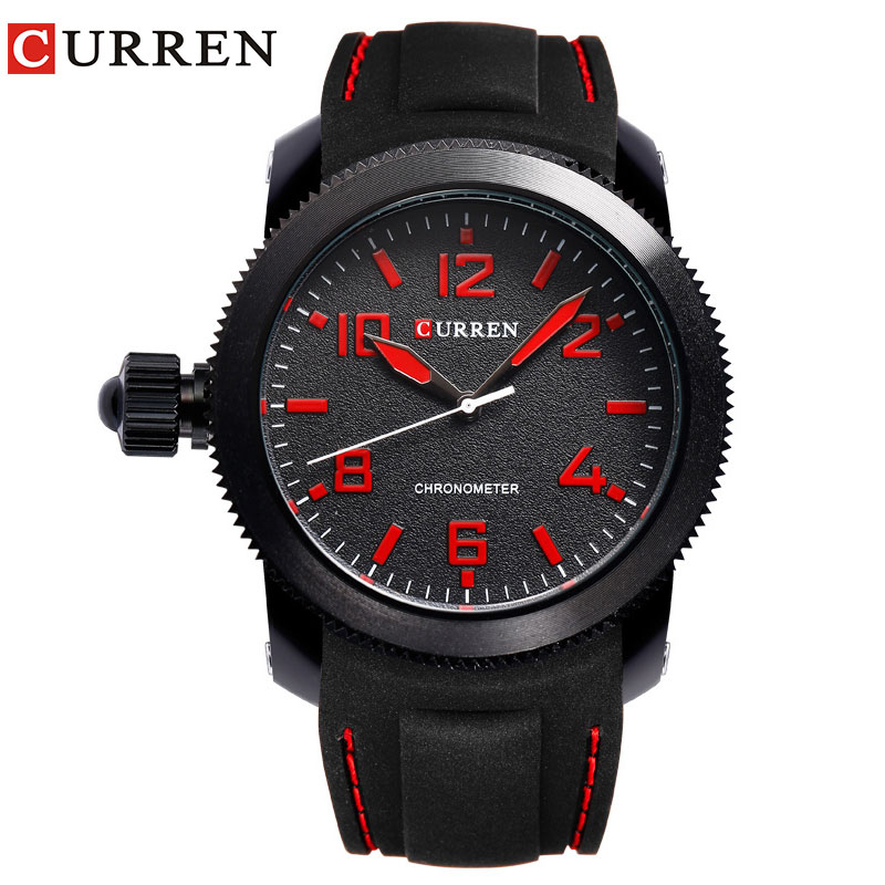 New CURREN Brand Men Sport WristWatches Casual Top Quality Quartz Silicone Band Watches Waterproof Relogio Masculino 8173 2017 new top fashion time limited relogio masculino mans watches sale sport watch blacl waterproof case quartz man wristwatches