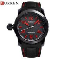 Nieuwe CURREN Merk Mannen Sport Horloges Casual Top Kwaliteit Quartz Siliconen Band Horloges Waterdicht Relogio Masculino 8173