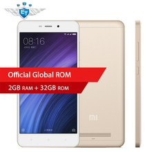 Original Xiaomi Redmi 4A 32GB Global ROM 2GB Smartphone 5.0 inch Snapdragon 425 Quad Core 13MP Camera MIUI 8 Android 6.0 FDD LTE