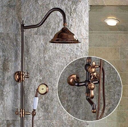 Bathroom Shower Faucet Set Brass ORB Wall Mounted Shower Faucet 8