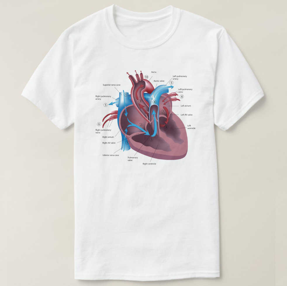 2019 Printed Men T Shirt Cotton Short Sleeve  Heart Anatomy cool t-shirt  Women tshirt