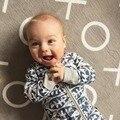 Bebê das meninas Dos Meninos puro Algodão de manga longa infantil pijamas Rompers Jumpsuit Outfits bebê roupas boutique