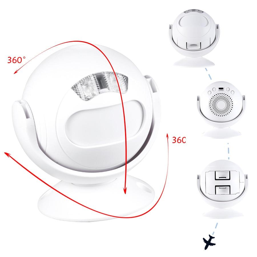 SMATRUL Wireless Doorbell Welcome IR Infrared motion sensor Alarm Cute mini home shop Door Bell Chime night light Deaf 4