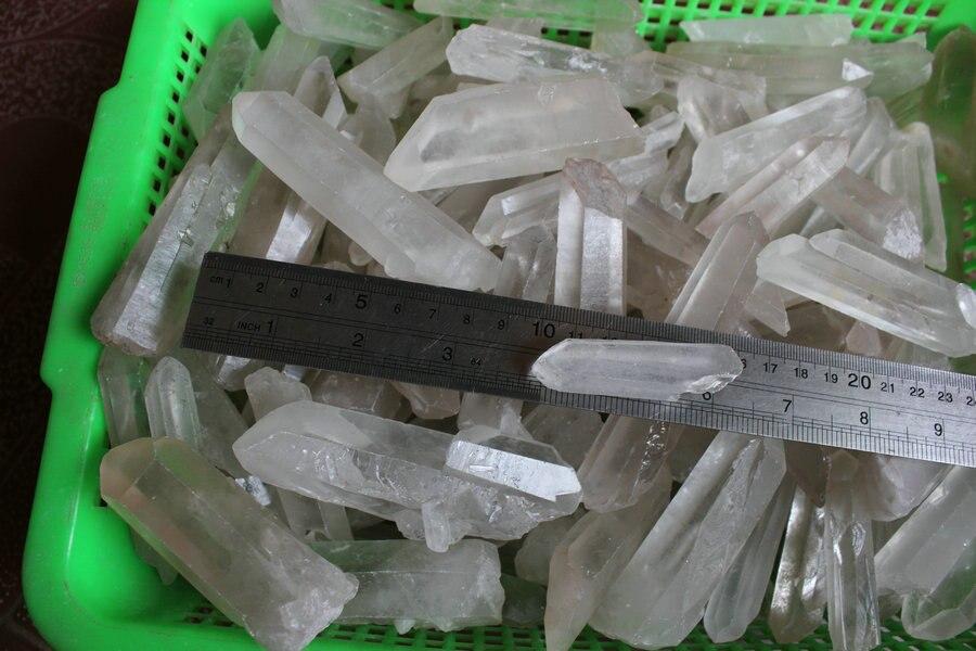 1 kg 2.2LB 15 piezas Biger Natural crudo blanco claro cristal de cuarzo puntos piedra de roca áspera minerales muestras semillas de cristal-in Piedras from Hogar y Mascotas    1
