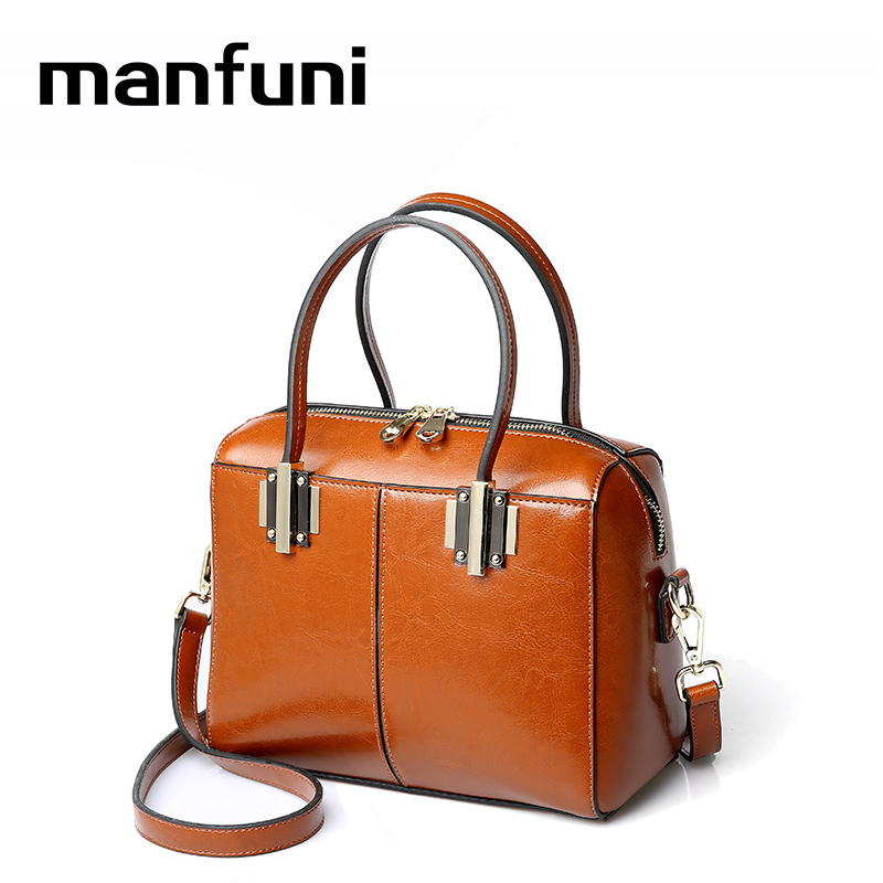 MANFUNI luxury handbags women bags genuine leather Shoulder bag Vintage Female bags bolsa feminina de marca famosa 0864 bags handbags women famous brands shoulder bag female bags women handbag women bolsa feminina bolsos mujer de marca famosa 2017
