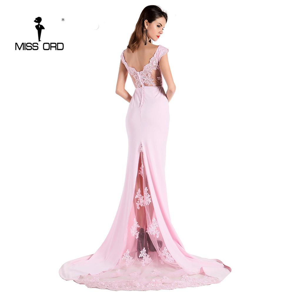 فستان سهرة  Missord جذاب مع ذيل وذو تصميم مميز 9