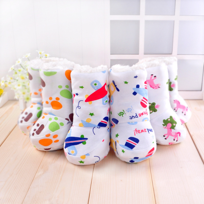 2017 Autumn Winter Fashion Soft Cotton Fabric Baby Boy Girl shoes Thick warm Footwear for newborns Toddler shoes