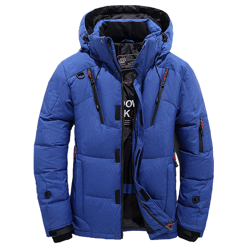 New Winter Duck   Down   Jacket Men Collar Jacket Men Thick Warm thick Mens White Duck   Down     Coat   winter Outerwer   Down   Parkas
