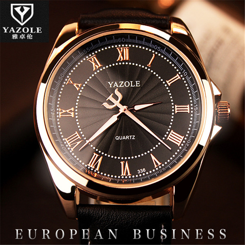 YAZOLE Wrist Watch Men Business Luminous Quartz Watch Male Clock Quartz-Watch Relogio Masculino Relog Hodinky Ceasuri D02 cool men watch double time stopwatch luminous timing ring alarm 12 24 hour men wrist watch clock relogio masculino watch