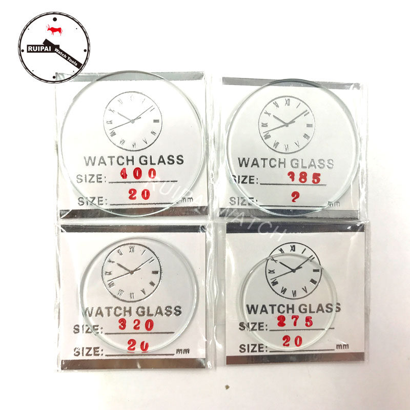 Wholesale 106pcs 2 0mm Thickness Mineral Watch Glasses set 25mm to 50mm Flat Round Cated Watch